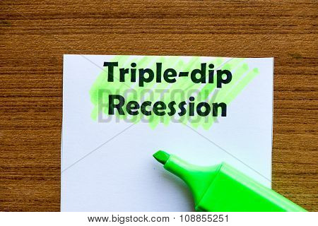 Triple Dip Recession
