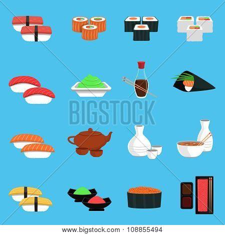Sushi Icons Set