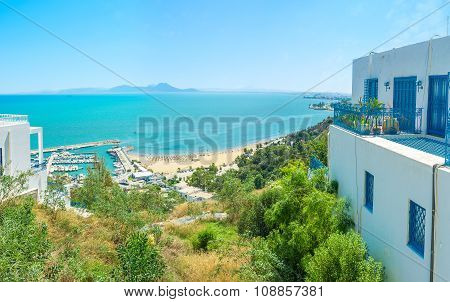The Coast Of Sidi Bou Said