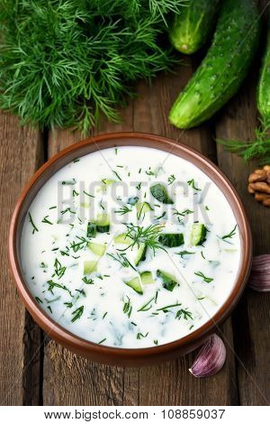Summer Cold Soup With Cucumbers