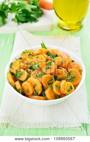 Carrot Salad With Green Herbs