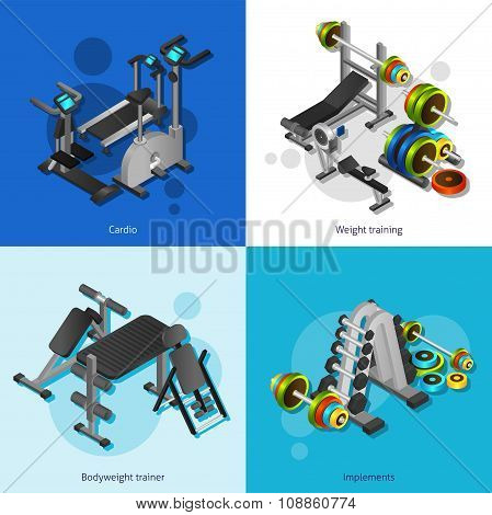 Fitness Equipment Image Set