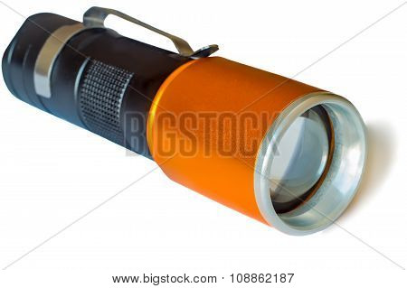 Small Electric Torch On White Background.