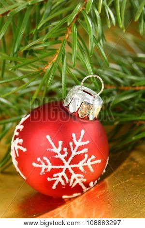 Christmas Bauble With Snowflake