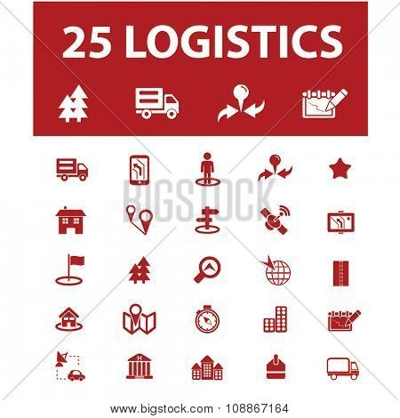 logistics, delivery, shipping, icons, signs vector concept set for infographics, mobile, website, application