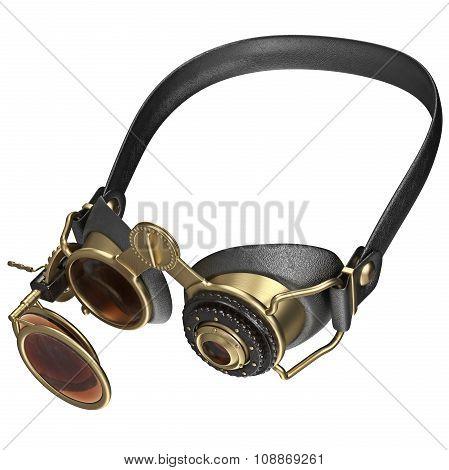 Retro style sunglasses with round lenses