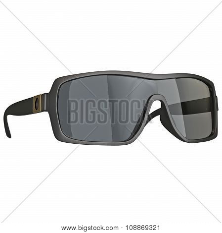 Sunglasses with black frame plastic