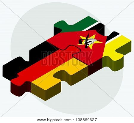 Germany And Mozambique Flags