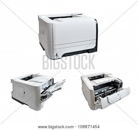 laser printer isolated on a white background