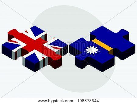 United Kingdom And Nauru Flags