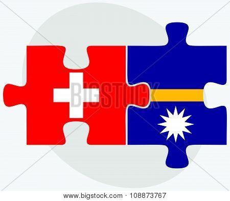 Switzerland And Nauru Flags