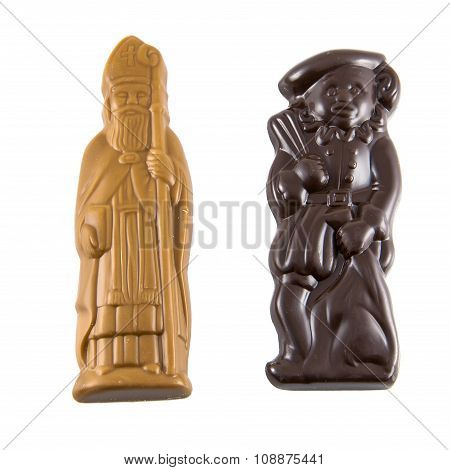 Sint And Piet Of Chocolate