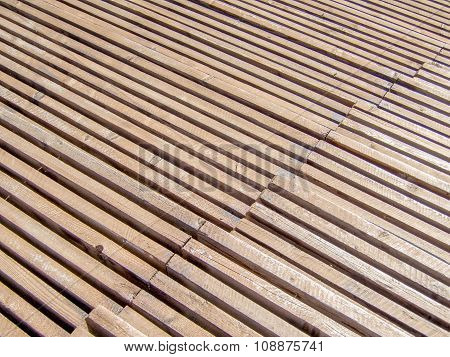 rows in a wooden sports rostrum pattern texture