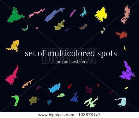 Set Of Multicolored Spots