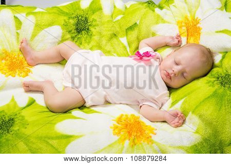 Sleeping Two-month Girl