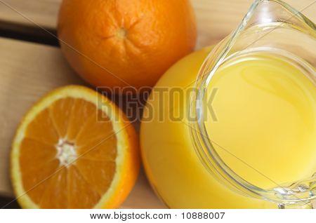 Glass Jug Of Orange Juice