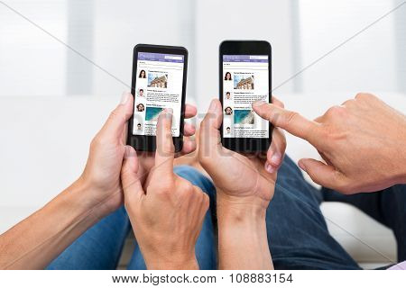 Two People Chatting On Social Networking Site