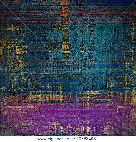 Grunge texture, may be used as retro-style background. With different color patterns: yellow (beige); purple (violet); blue; black