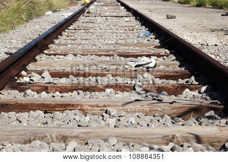 abandoned train rail
