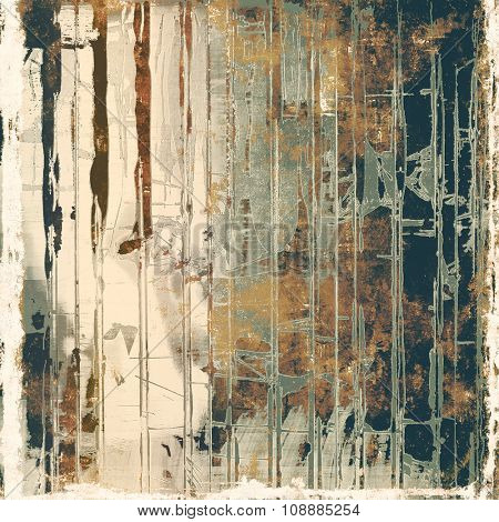 Designed grunge texture or background. With different color patterns: yellow (beige); brown; gray; black