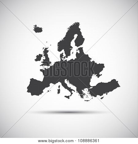 Simple vector illustration map of EU