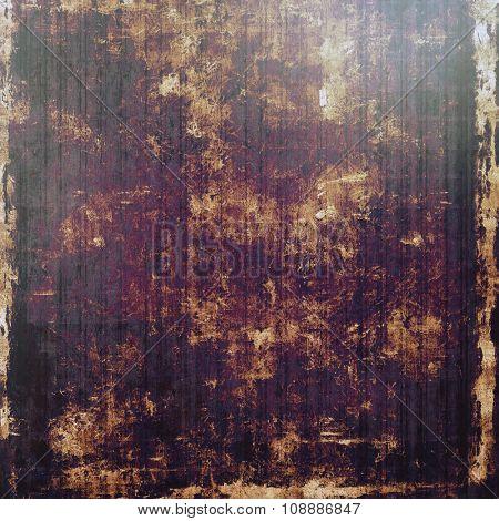 Grunge, vintage old background. With different color patterns: yellow (beige); brown; purple (violet); black