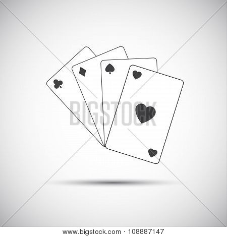 Simple vector playing cards