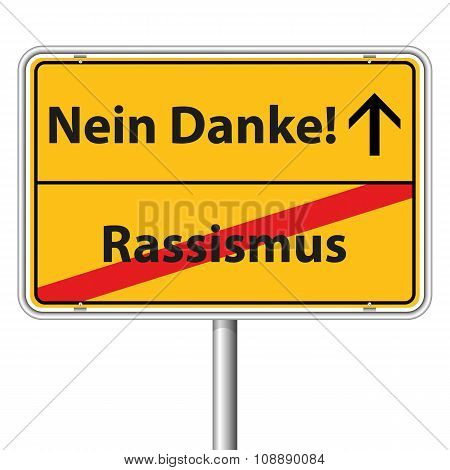 Illustration Vector Graphic Road Sign Racism