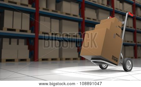 Box On A Hand Truck