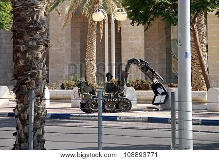 Robot Demining Suspicious Object, Israel