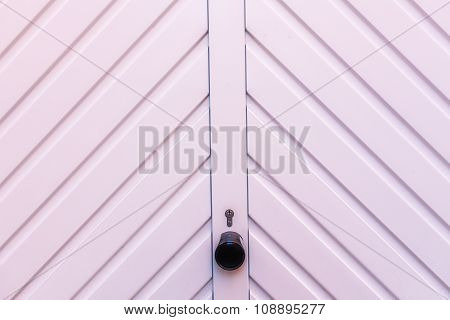 White garage door detail