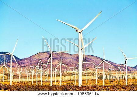 wind turbine at the desert