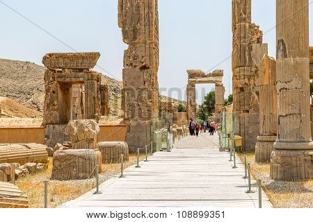 Persepolis old stone gates