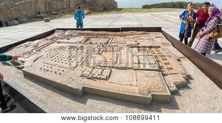 Scale model of the Ruins of Persepolis