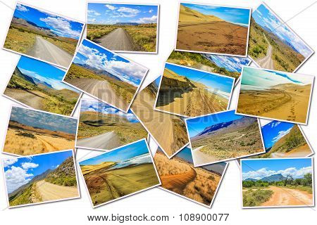 African Gravel Road Collage