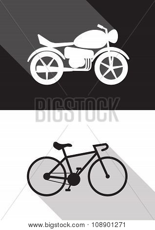 Motorcycle And Bicycle