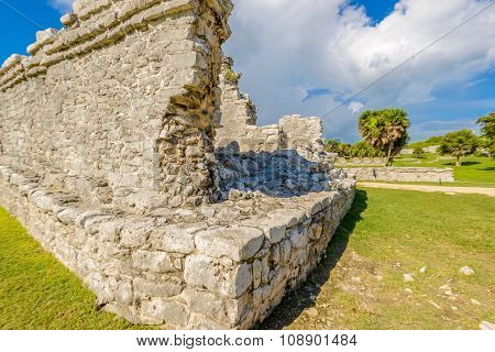 Mayan Ruins of Tulum. Tulum Archaeological Site. Mexico.