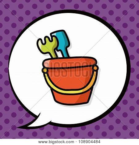 Sand Bucket Color Doodle