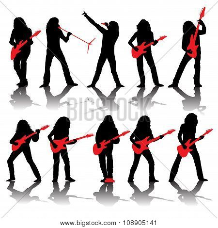 Guitarists Silhouettes
