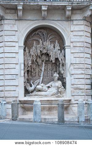 Via Delle Quattro Fontane In Rome,
