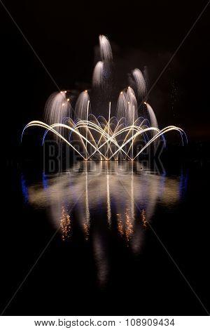 Fireworks Festival Ignis Brunensis In Brno, Czech Republic