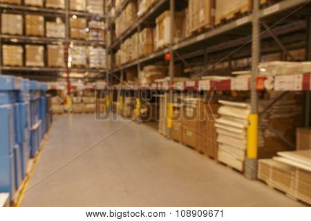 Defocused Image Of Warehouse