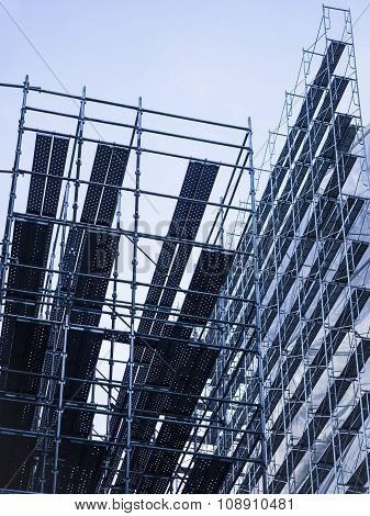 Scaffold Steel Construction Building Site