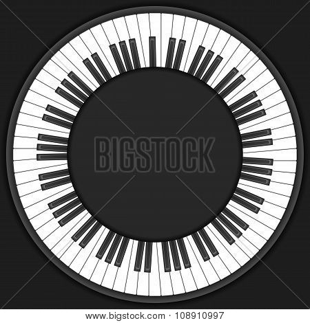 Circle Piano Keys Background