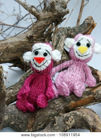 Year Of Monkey, Knitted Toy, Symbol, Handmade