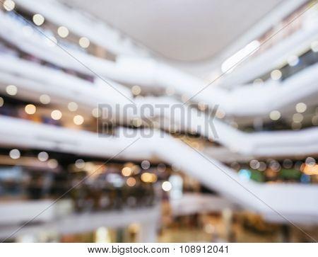 Blurred Shopping Mall Interior Design