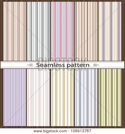 Set of seamless patterns. Line