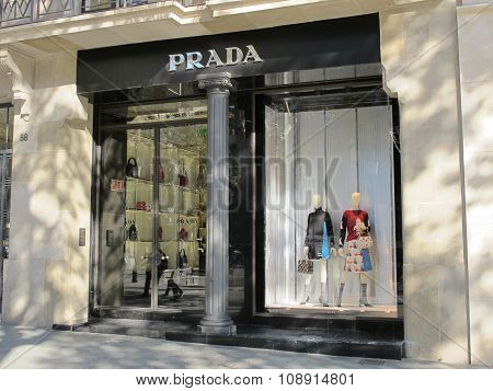 Prada Luxury Store In Barcelona