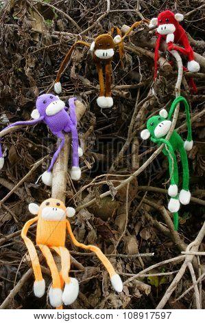 Knitted Monkey, Symbol, Year Of The Monkeys