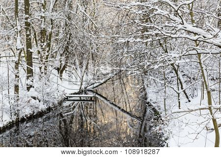 Winter At A Channel